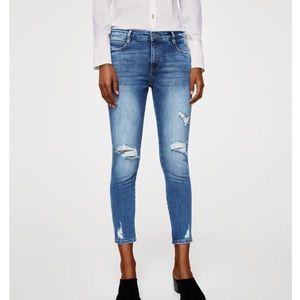 NWT Mango 'Isa' Skinny Destroyed Jeans